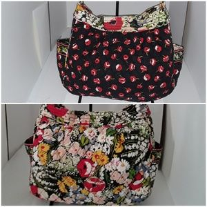 Vera Bradley Reversible  Poppy Fields shoulder bag
